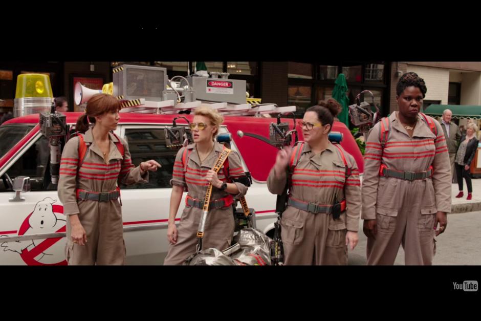 Las protagonistas son Melissa McCarthy, Kristen Wiig, Kate McKinnon, Leslie Jones y Chris Hemsworth. (Foto: Captura de YouTube)