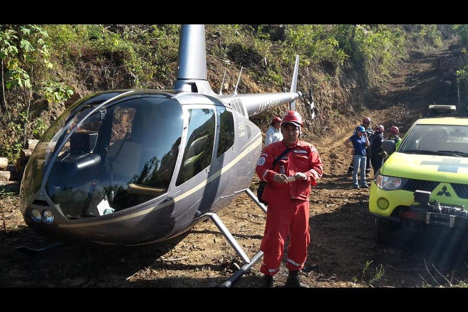 Los Bomberos Municipales localizaron una aeronave que se encontraba desaparecida desde la tarde del pasado martes en las faldas del volcán de Agua. (Foto: @bomberosmuni)
