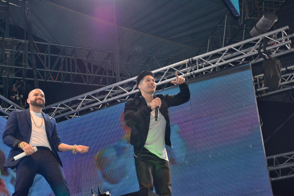 El dúo entregó su música al público guatemalteco (Stanley Herrarte/Nuestro Diario)