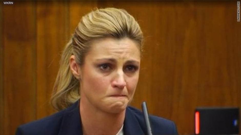 Lágrimas y mucho sufrimiento durante el juicio de Erin Andrews. (FoxNews)