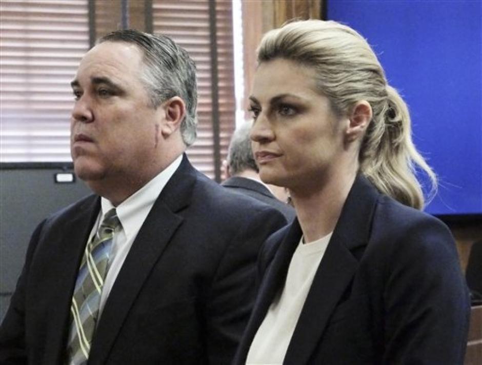 Junto a su abogado, Erin Andrews, nunca desmayó en el juicio. (FoxNews)