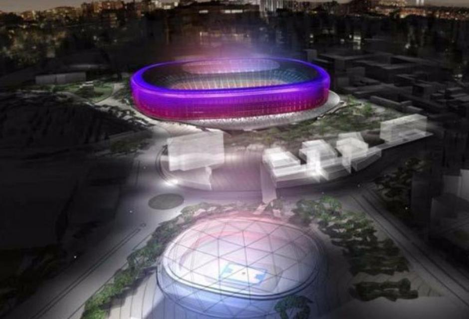Imágen panorámica de como luciría el Camp Nou. (Foto: Sport)