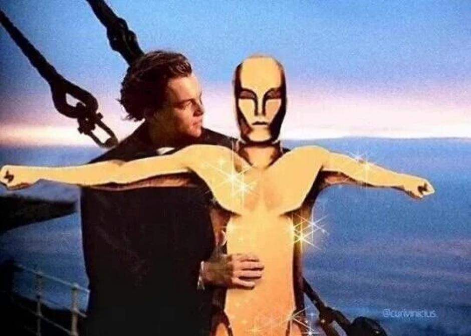 Un meme más de Leonardo DiCaprio en Titanic
