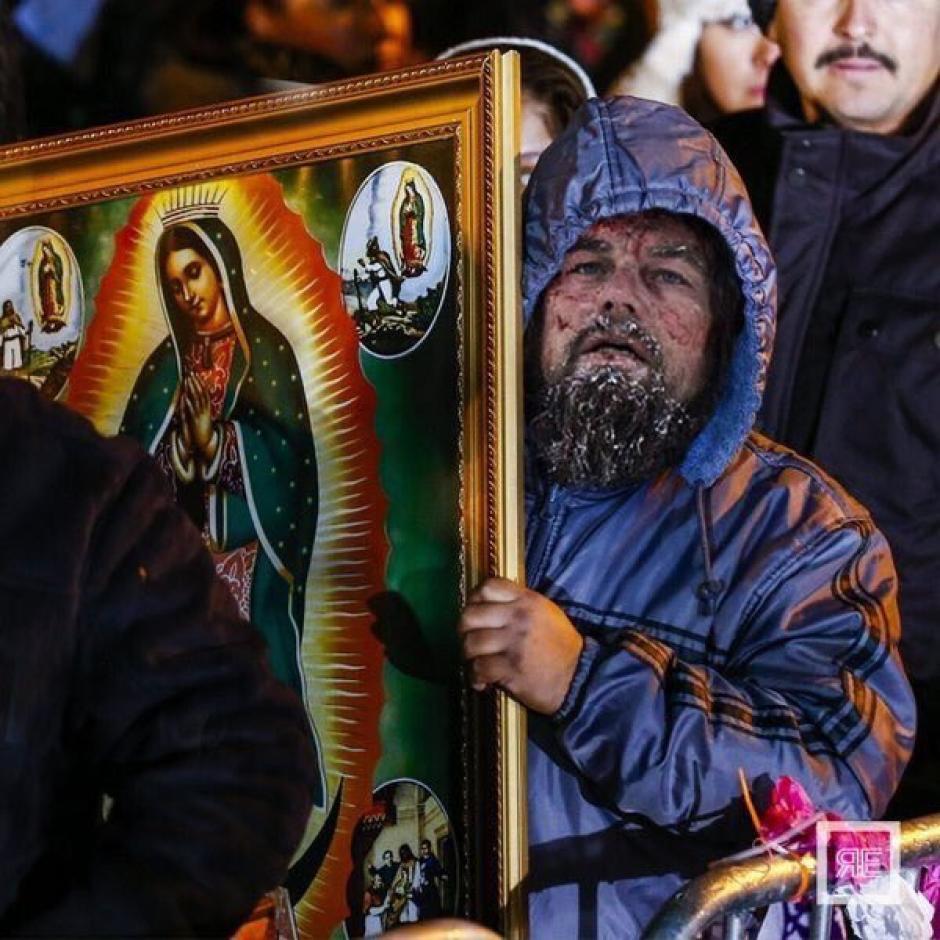 Leonardo DiCaprio esperando por su Oscar