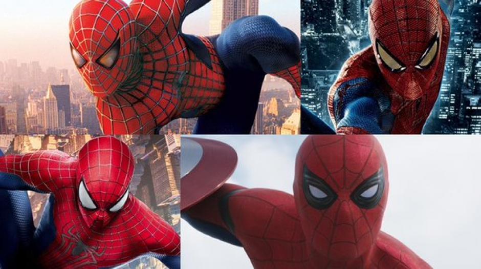 El comparativo de los trajes que Spiderman ha llevado al cine. (Foto: Twitter)