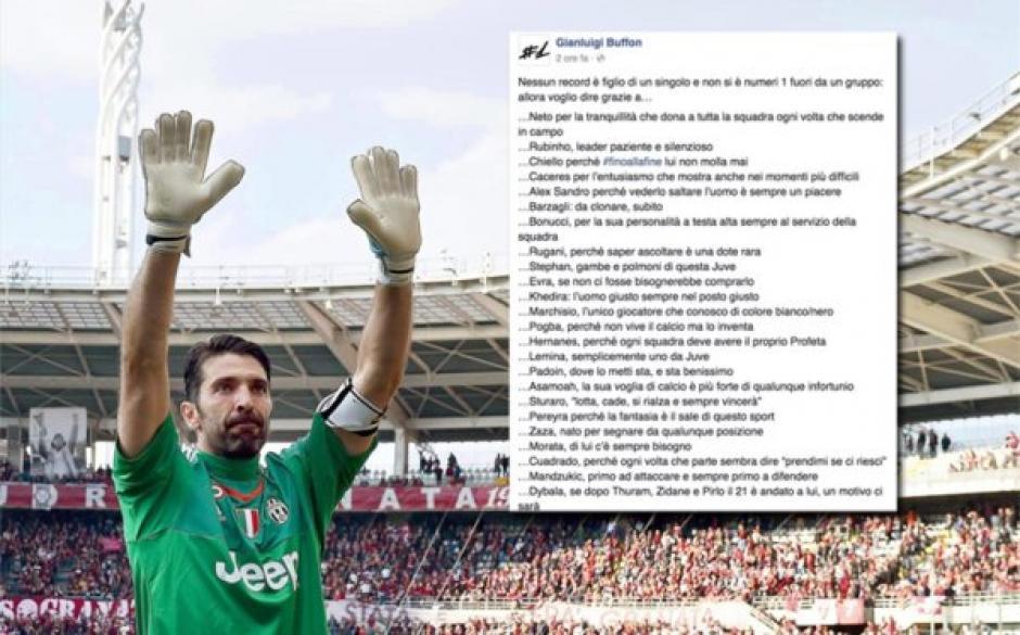 Buffon dedica poema a la portería foto