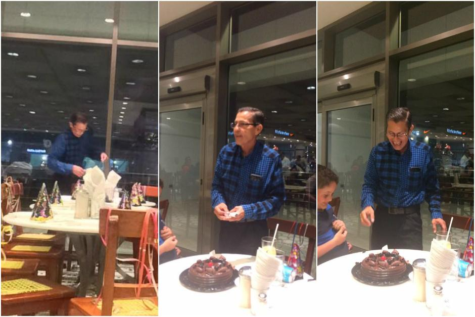 Eduviges se acercó a otros comensales para invitarlos a su mesa. (Foto: Patty Rodríguez)