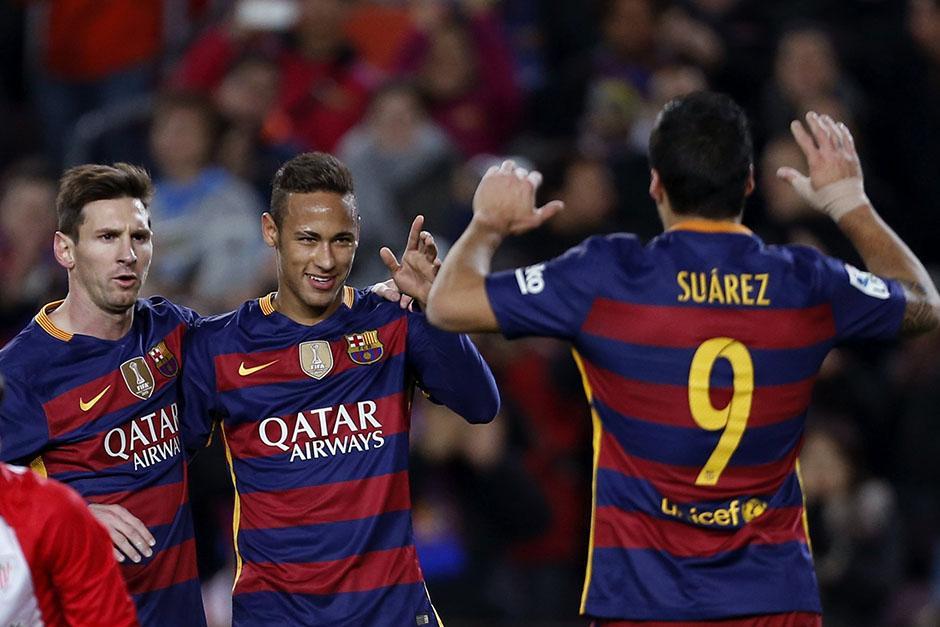 Barcelona goleó al Bilbao, rival que enfrentará en esta semana en la Copa del Rey. En la Liga son sublíderes con un partido menos, a dos puntos del Atlético de Madrid.(Foto: EFE)