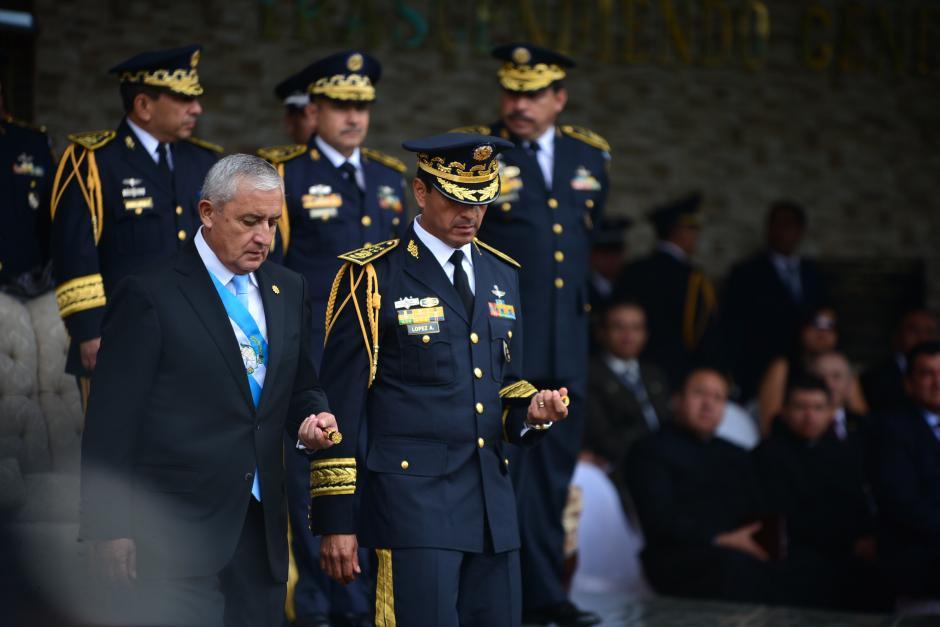 Otto Pérez Molina y Manuel López Ambrocio guardan prisión preventiva en Mariscal Zavala. (Foto: Archivo/Soy502)
