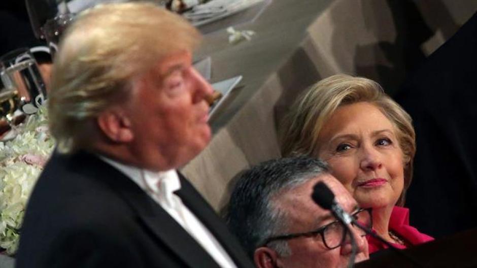 Donald Trump y Hillary Clinton participaron en una cena benéfica en Nueva York. (Foto: www.lanacion.com.ar)