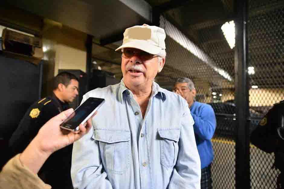 César Augusto Ruiz Morales de 65 años, a su arribo a Torre de Tribunales. (Foto: Wilder López/Soy502)