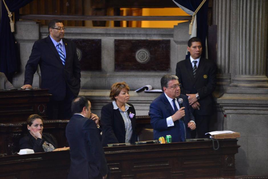 El pasado jueves, Taracena y Fajardo discutieron en el hemiciclo. (Foto: Archivo/Soy502)