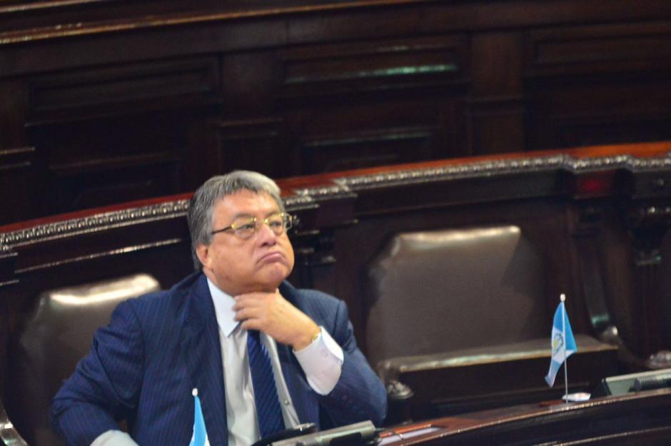 El diputado César Fajardo fue uno de los pocos diputados que está arraigado que se presentó a trabajar. (Foto: Jesús Alfonso/Soy502)