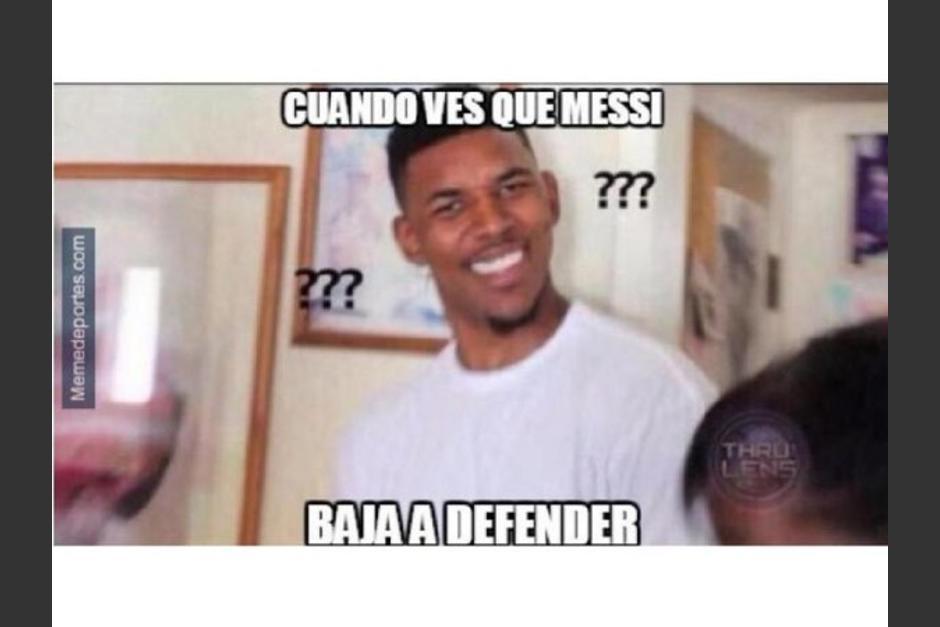 Los memes no perdonaron al Barcelona en el partido de cuartos de final. (Foto: MemeDeportes)