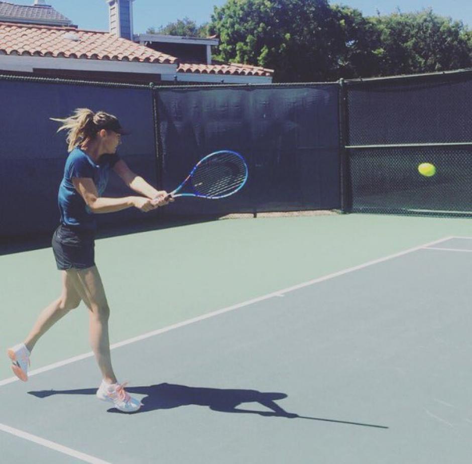 Sharapova no deja los entrenamientos. (Foto: Twitter María Sharapova)