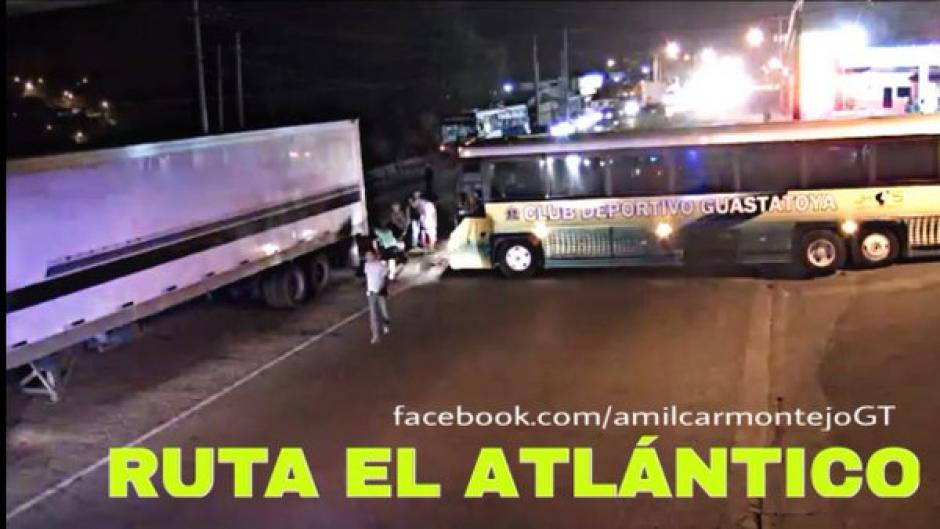 Bus guastatoya accidente foto
