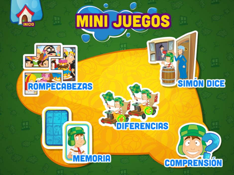 El playbook tiene diversos retos para que los niños aprendan jugando.