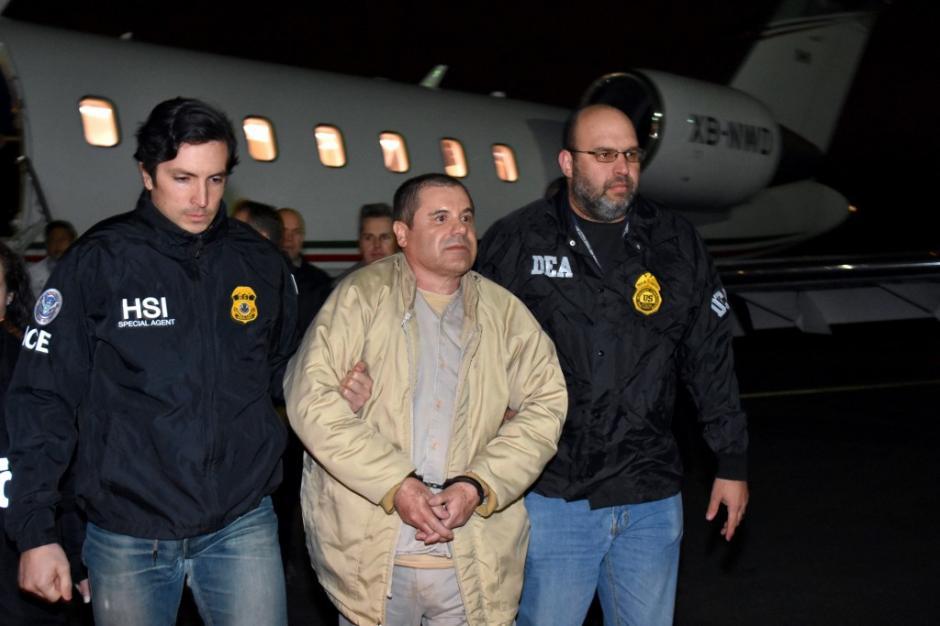 El Chapo Guzmán llegó en horas de la noche a Nueva York. (Foto: www.infobae.com)