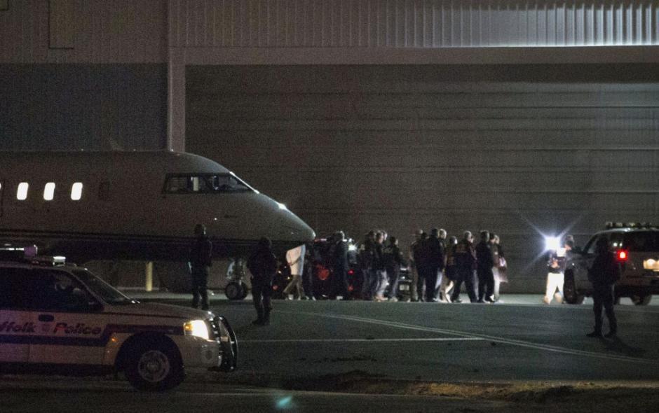 El convoy que llevaba al Chapo llegó a Nueva York a eso de las 22:15 horas. (Foto: www.infobae.com)