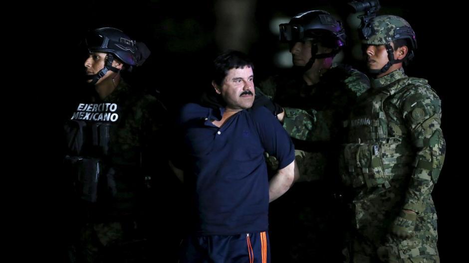 """Foto de archivo cuando """"El Chapo"""" fue recapturado en enero de este año. (Foto: Archivo)"""