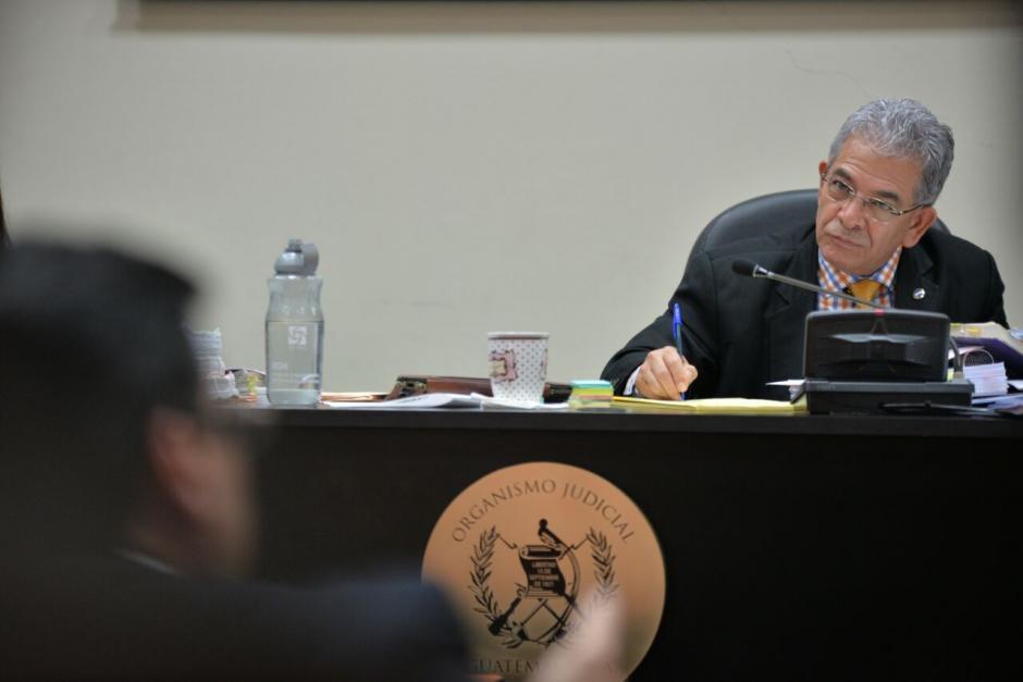 La audiencia la sigue el Juez Miguel Ángel Gálvez. (Foto: Wilder López/Soy502)