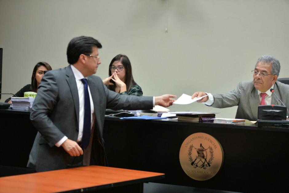 El magistrado a la Corte Suprema de Justicia presentó su renuncia. (Foto: Wilder López/Soy502)