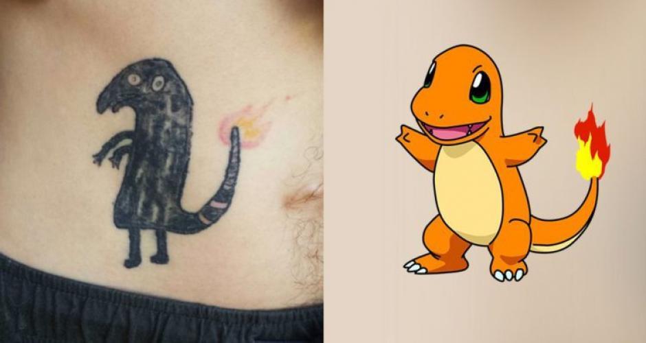 """El fanático de Pokémon Go intentó tatuarse un """"Charmander"""" y las cosas no salieron bien. (Foto: elciudadano.cl)"""