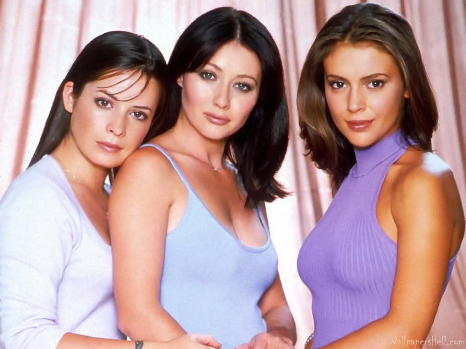 """Shannen Doherty, al centro, también actuó en la serie """"Charmed""""."""