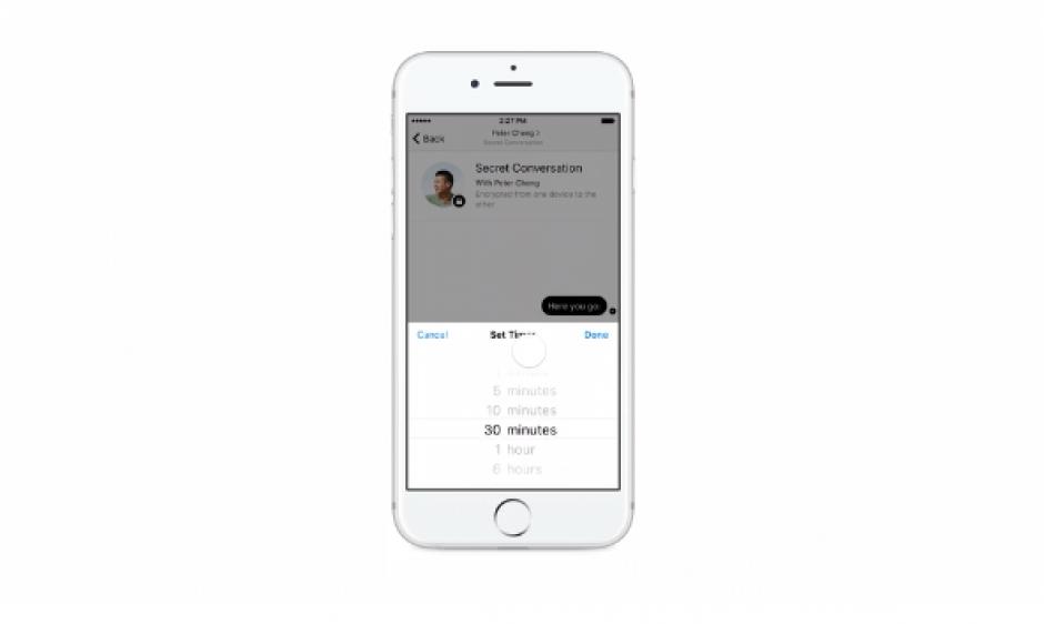 Una de las opciones será ajustar el tiempo de disponibilidad de cada mensaje en la conversación. (Foto: hipertextual)