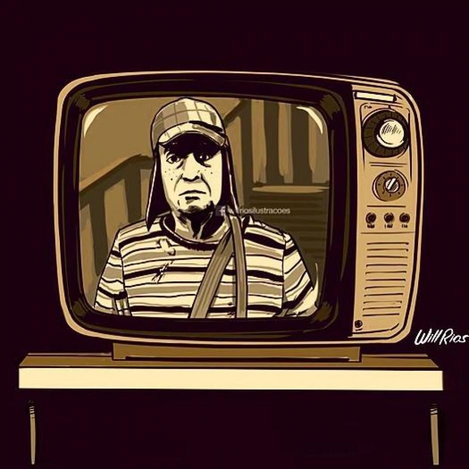 La famosa televisión en la casa de Doña Florinda donde miraban el fútbol. (Foto: Will Ríos/Facebook)