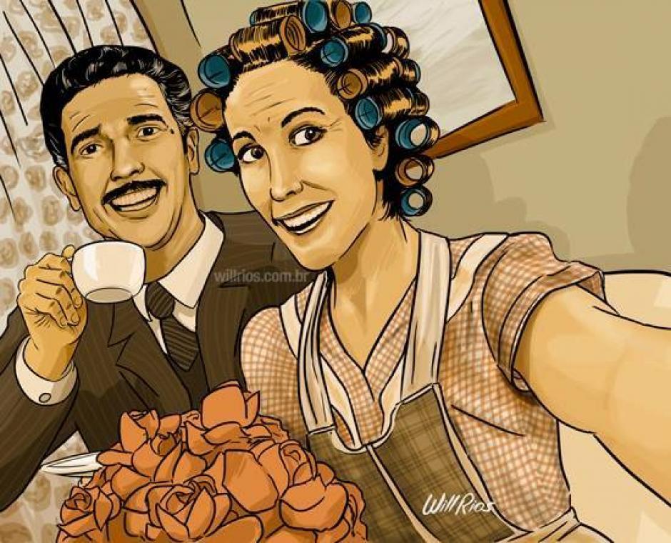 La peculier escena de Doña Florinda y el profesor Jirafales cuando tomaban café en la vecindad. (Foto: Will Ríos/Facebook)