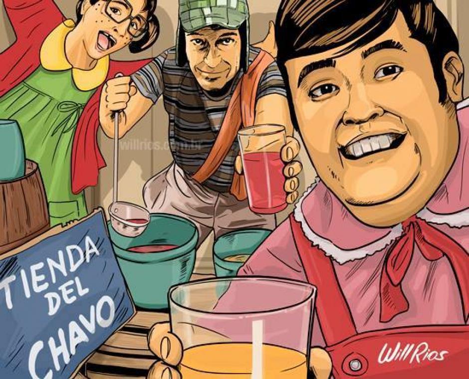 El capítulo de las Aguas Frescas del Chavo del 8 en una autofoto. (Foto: Will Ríos/Facebook)