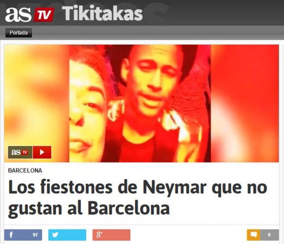 Los medios en España llevan tiempo haciendo eco a la vida nocturna del brasileño. (Foto: Twitter)