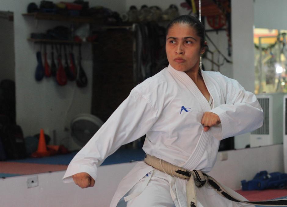 Cheili González está de vuelta en los entrenamiento y piensa en Tokio 2020. (Foto: Luis Barrios/Soy502)