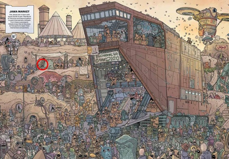 Después de una larga búsqueda se descubre en donde se encuentra Chewbacca. (Foto: Sopitas)