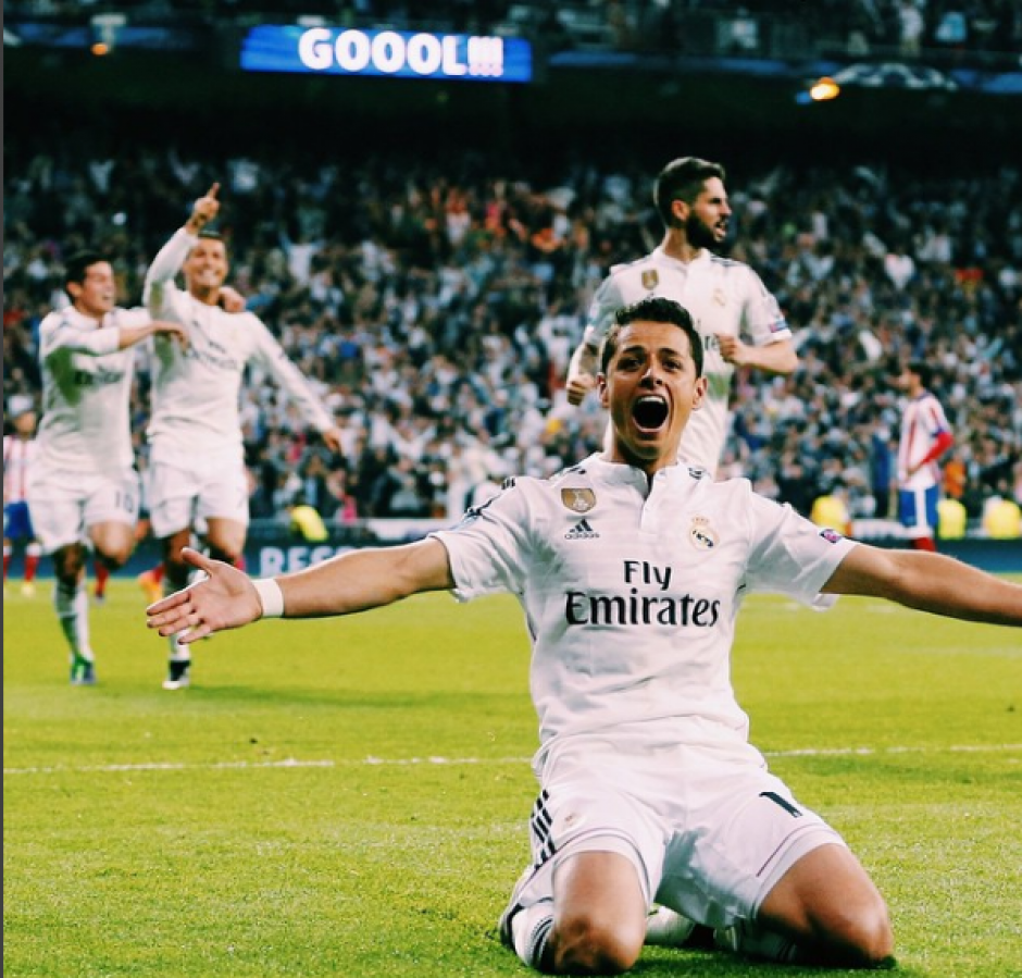 """El futbolista estará de baja al menos dos semanas. (Foto: Javier """"Chicharito"""" Hernández/Instagram)"""