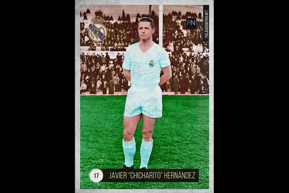 """Javier """"el Chicharito"""" Hernández transportado al pasado con un buen fotomontaje. (Foto: paladarnegro.net)"""