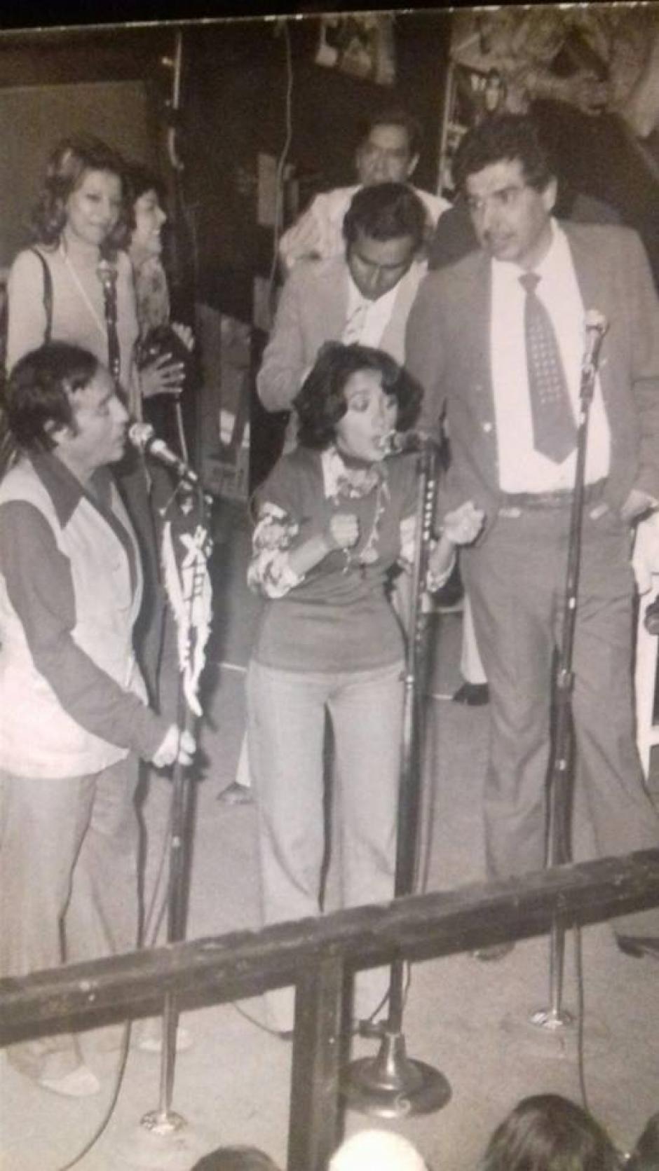 La ocasión en la que María Antonieta cantó sorpresivamente. (Foto: Facebook/La Chilindrina)