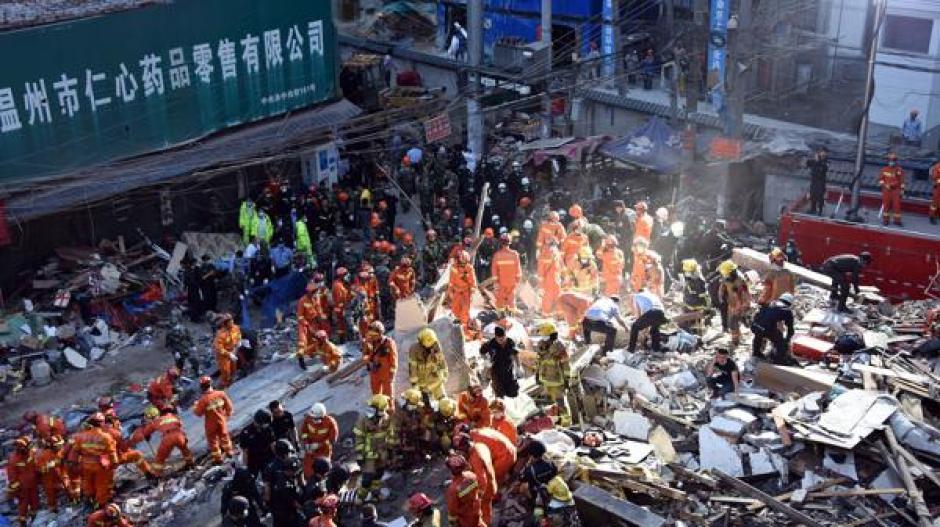 El derrumbe ocurrió el recién pasado lunes en la provincia de Zhejiang, China. (Foto: AFP)