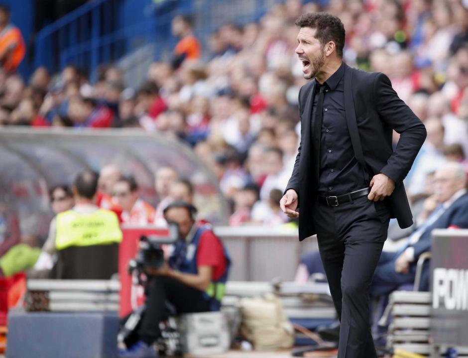 Diego Simeone es una insignia en Atlético de Madrid, fue como jugador y ahora como entrenador. (Foto: EFE)