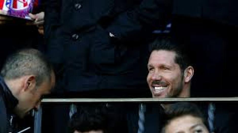 Simeone vio el segundo tiempo en las gradas. (Foto: Captura de pantalla)