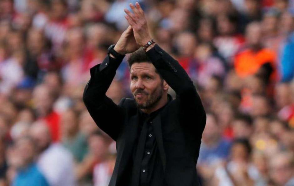 """El """"Cholo"""" agradeció la ovación del Calderón. (Foro: Marca)"""