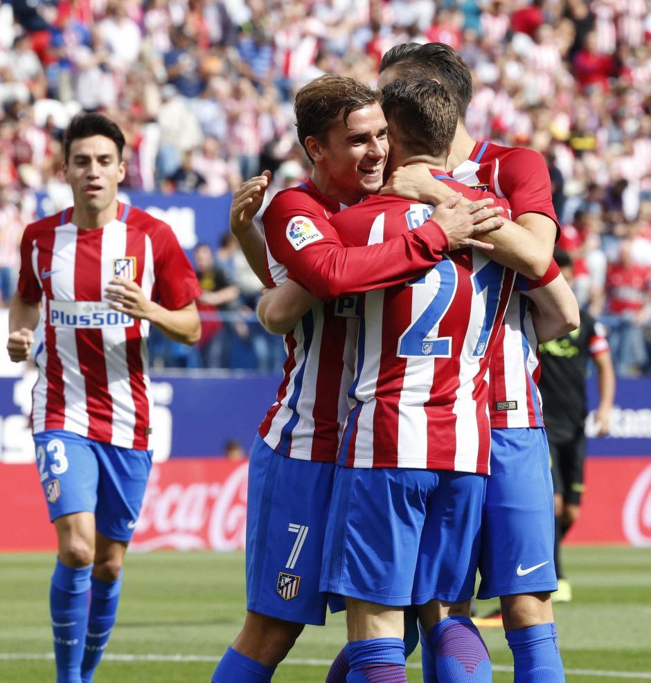 El Atlético de Madrid goleó al Sporting 5-0. (Foto: EFE)