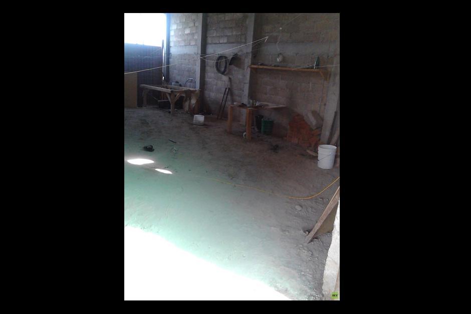 Este es el interior del lugar por donde salió de la prisión, el hombre más buscado del mundo.(Foto: RT Actualidad)