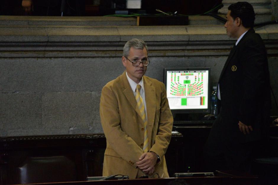 Vásquez denunció al diputado Christian Boussinot por presuntamente haberlo extorsionado. (Foto: Archivo/Soy502)
