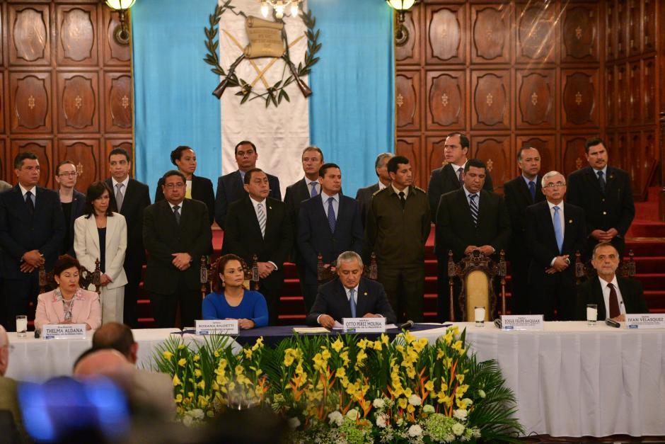 En la actividad participaron todos los Ministros de Estado. (Foto: Archivo/Soy502)