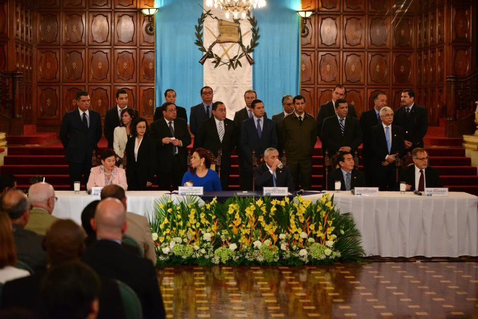 Los Ministros de Estado respaldaron al entonces presidente Otto Pérez Molina. (Foto: Archivo/Soy502)