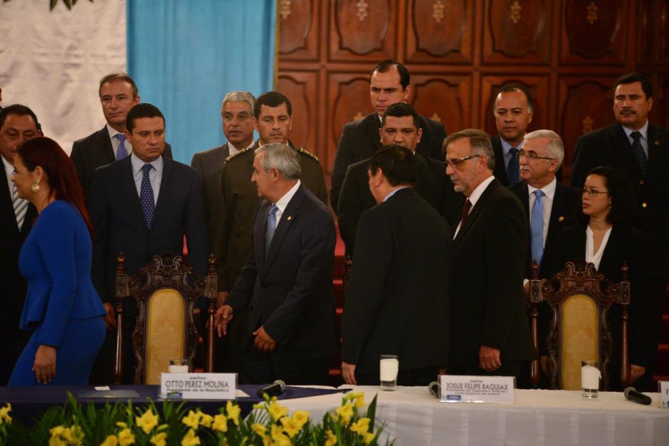 Los Ministros parecían desconcertados ante la noticia. (Foto: Archivo/Soy502)