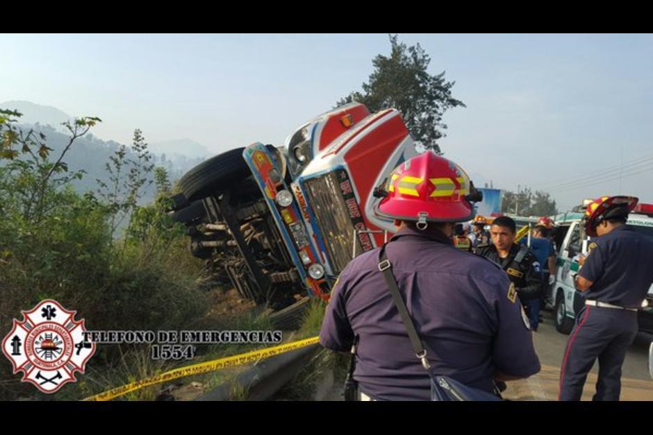 El accidente ocurrió en el kilómetro 45 de la ruta Interamericana. (Foto: @CBMDEPARTAMENTAL)