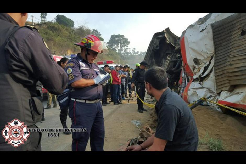 Al menos 25 personas resultaron heridas luego del incidente. (Foto: @CBMDEPARTAMENTAL)